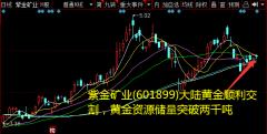 紫金矿业(601899)大陆黄金顺利交割,黄金资源储量突破两千吨