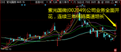 紫光国微(002049)公司业务全面开花,连续三年保持高速增长
